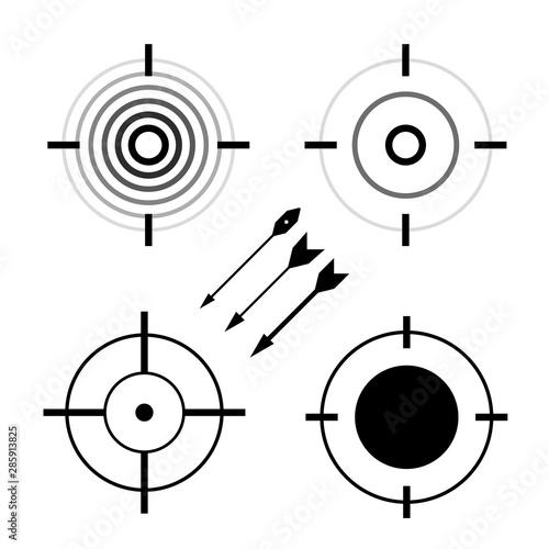 Target symbols set Canvas Print