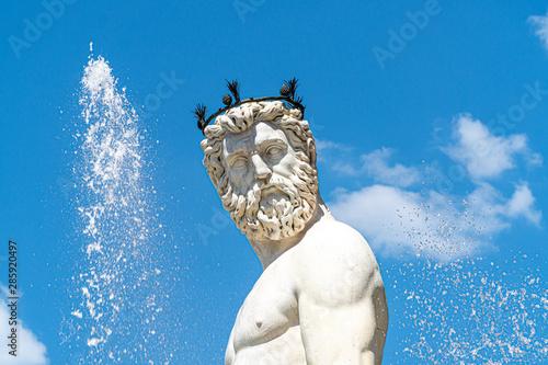 Photo La fontaine de Neptune à Florence