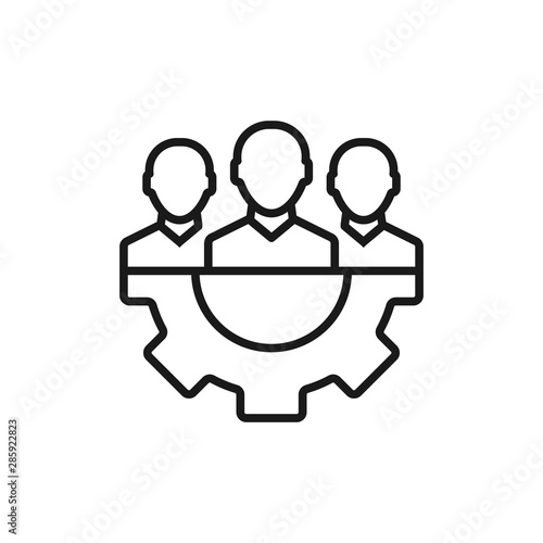 Fototapety, obrazy: management - minimal line web icon. simple vector illustration. concept for infographic, website or app.