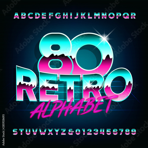 Fotografia  80s Retro alphabet font