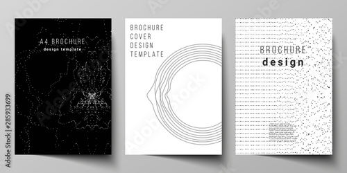 Fotografía  The vector layout of A4 format modern cover mockups design templates for brochure, magazine, flyer, booklet