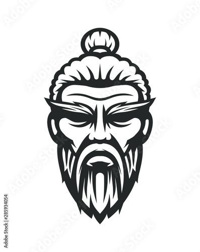 Photo Sensei logo. Old master kung fu