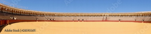 arena bull fighting sand spain