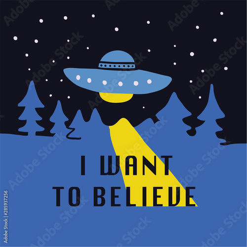 I want to believe hand drawn doodle Canvas Print