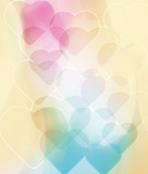 Abstract background with hearts. Valentine's day. Love and affection, feelings. Wall with hearts
