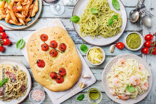 Concepts of Italian food Wallpaper Mural
