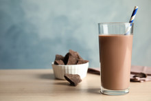 Glass Of Tasty Chocolate Milk ...