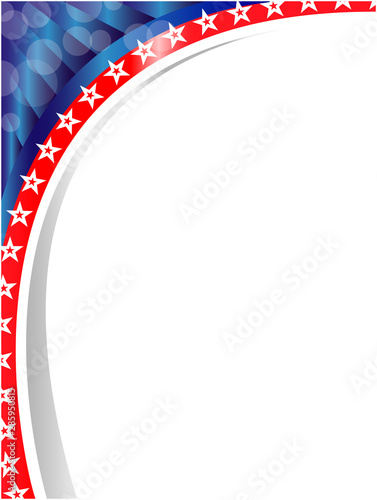 Abstract American symbols card frame with empty space for your text. Fototapete
