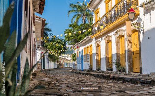 Historical centre of Paraty in Brazil Canvas