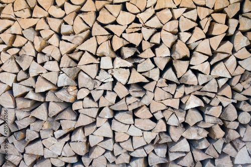 Fotobehang Brandhout textuur Brennholz Scheite