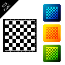 Chess Board Icon Isolated On W...