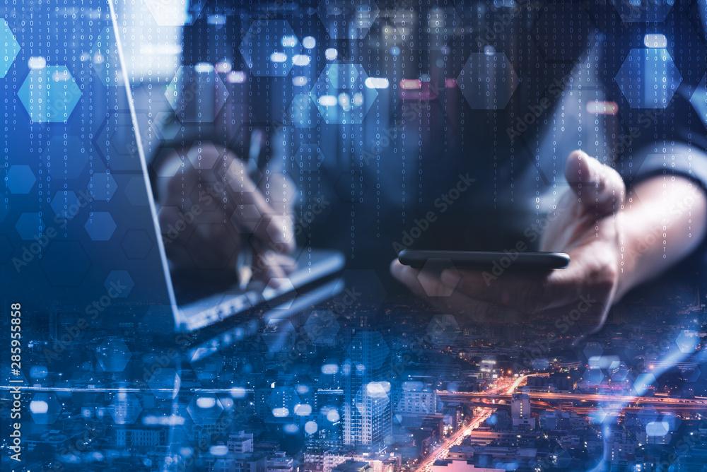 Fototapeta Digital software development concept
