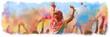 canvas print picture - Breitbild - Holi Fest begeisterte Menschen jubeln auf einem Holifestival, tanzen und werfen mit buntem Holipulver - Design