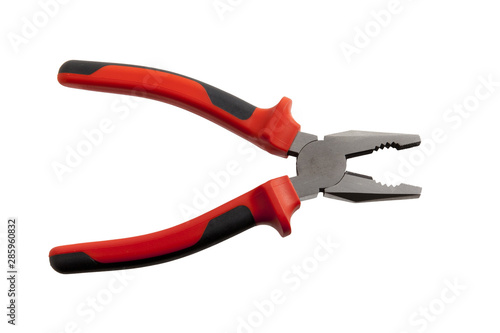 close up of pliers on white background Wallpaper Mural
