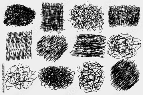 Pen strokes set Tapéta, Fotótapéta