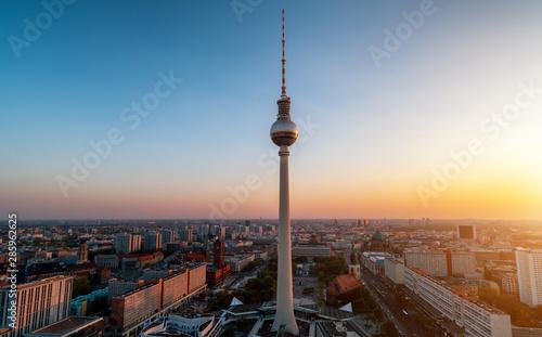 panoramic view of Berlin during sunset Wallpaper Mural