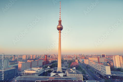 Spoed Fotobehang Berlijn good morning berlin, city of Berlin during sunrise