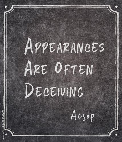 Fotografija  often deceiving Aesop
