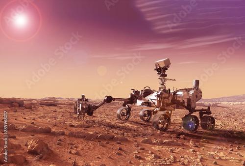 Fotografía  Mars explores the surface of the planet