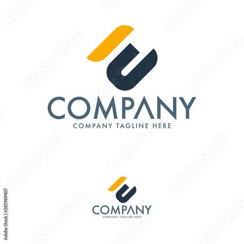 Letter EM Logo Design Template Canvas Print