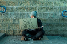 A Man, Homeless, A Man Asks Fo...