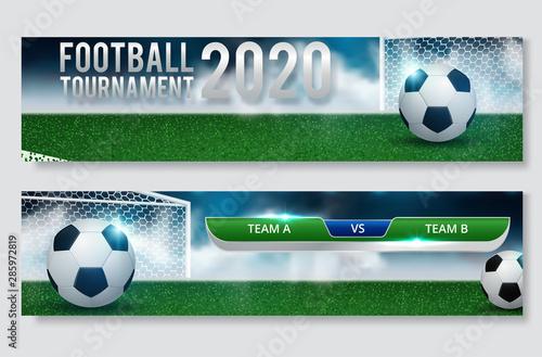 Fotomural  Football cup, soccer championship illustration set