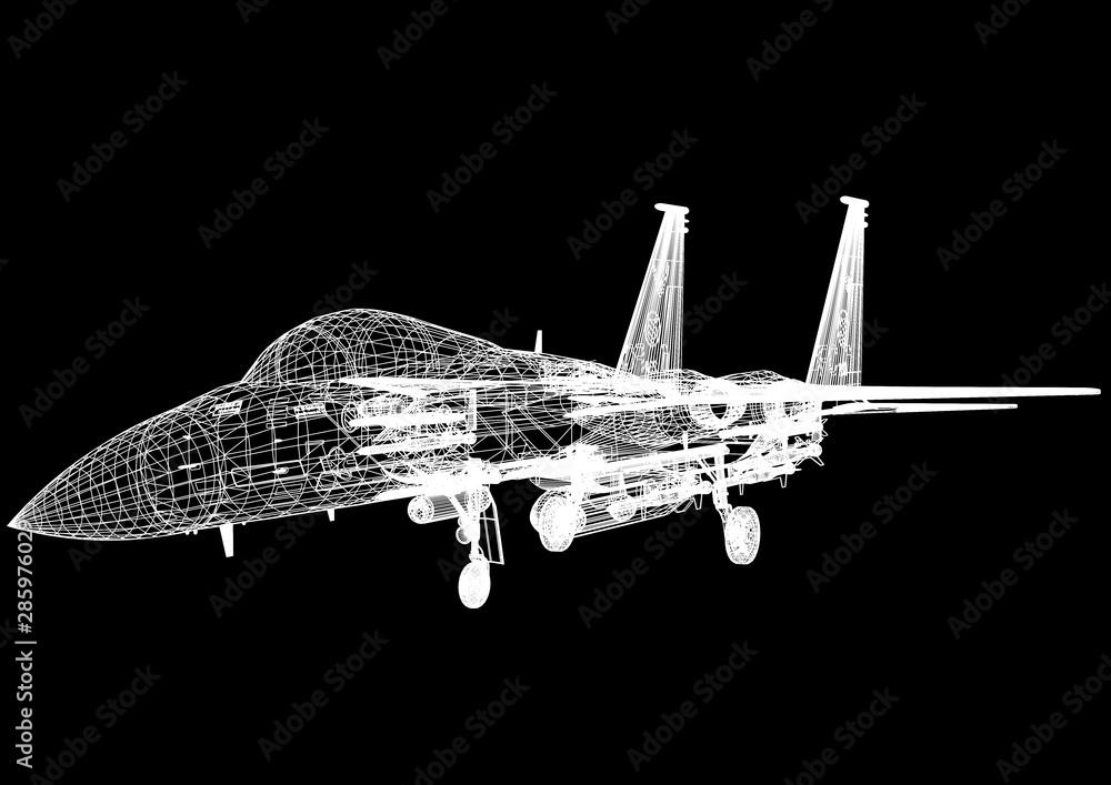Fototapety, obrazy: Military Plane