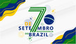 Anniversary Logo of the Federative Republic of Brazil Country, happy independence day Brazil, Viva Brazil