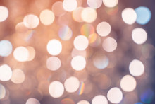 Abstract Blur Image Background Of Bokeh Crystal Light Chandelier