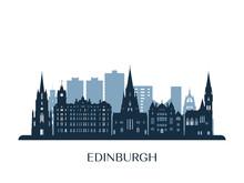 Edinburgh Skyline, Monochrome ...