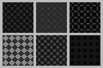 Abstract circle pattern background collection - vector designs from circles and dots