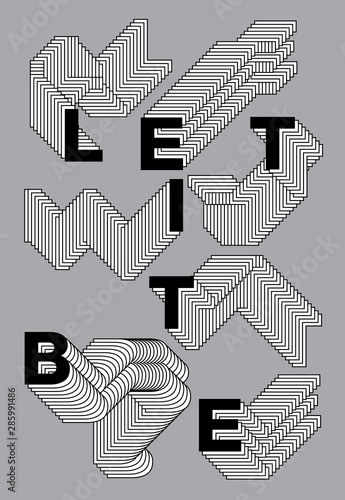 let it be, layered alphabet, words with phrases about cheer Wallpaper Mural