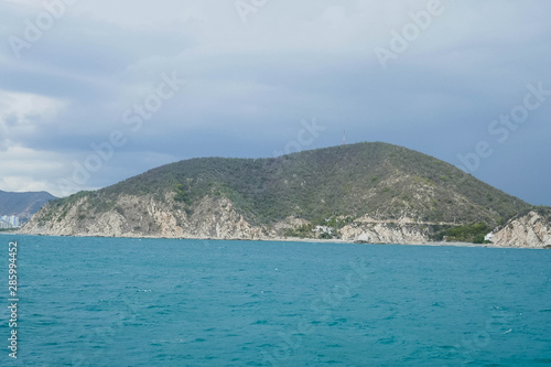 Canvas Prints Cappuccino Stunning view of the seascape, sea and mountains