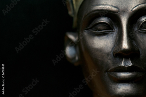 Stampa su Tela Close up of Ancient Egypt Queen Nefertiti, shallow depth of field