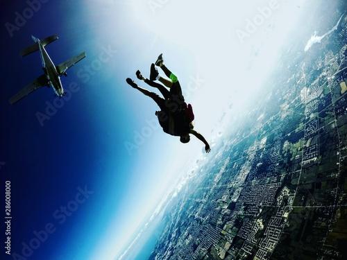 Obraz na płótnie Skydiving Tandem