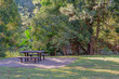 Picnic Table And Chairs In Beautiful Lush Countryside
