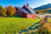 Red Barn During A New England ...