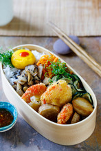 Japanese Bento Box With Tempur...