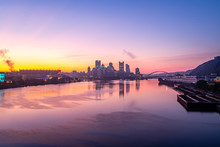 Dawn Over Pittsburgh From The West End Bridge