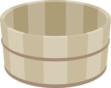 お風呂用の木製の桶
