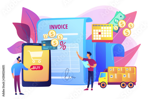 Online shopping application, delivery service, transportation business Canvas Print