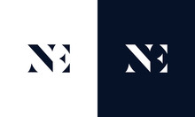 Abstract Letter NE Logo. This ...