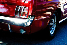 Closeup Of An American Car Fro...