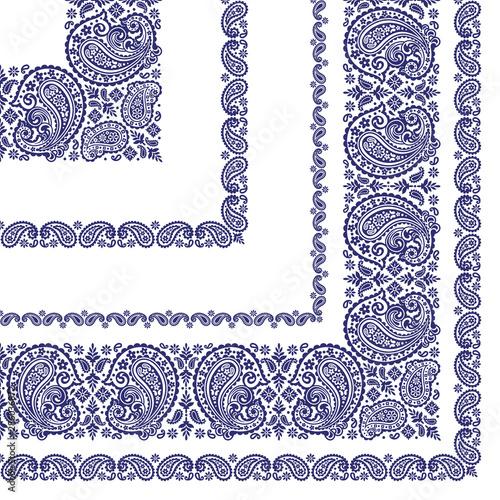 Ornament scarf design using beautiful paisley, Fotobehang
