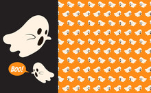 Halloween Ghost Seamless Patte...