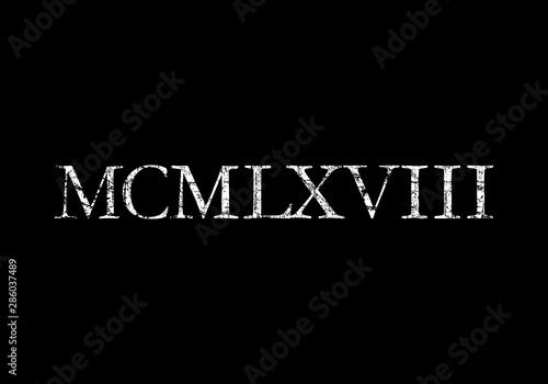 Papel de parede  MCMLXVIII 1968 Roman (Ancient White)