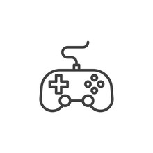 Video Game Controller Line Ico...