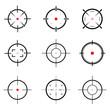 set of target icon
