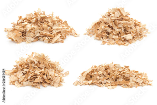 Obraz na plátně  Pile of sawdust piles on white background