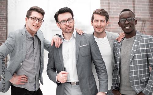 Obraz na plátně creative business team on the background of the office